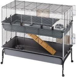 Ferplast Guinea Pig And Rabbit Cage Indoor Home 2 Tier With Stand Large 120Cm found on Bargain Bro UK from Pets at Home
