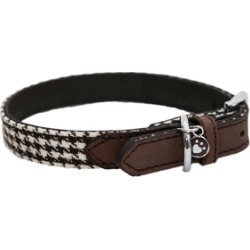 Rosewood Wag 'N' Walk Houndstooth Dog Collar Brown Small found on Bargain Bro UK from Pets at Home