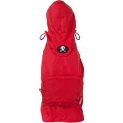 Fab Dog Packaway Dog Raincoat Small Red