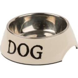 Pets At Home Cream 2 In 1 Dog Bowl Medium