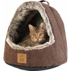 House Of Paws Hooded Arctic Cat Bed found on Bargain Bro UK from Pets at Home