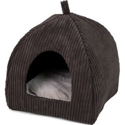 Pets At Home Jumbo Cord Choc Cat Igloo found on Bargain Bro UK from Pets at Home