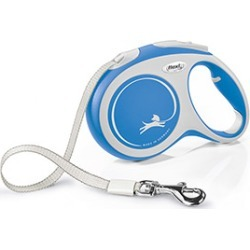 Flexi Extending Dog Lead New Comfort Tape 5M Blue Large found on Bargain Bro UK from Pets at Home