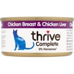 Thrive Complete Chicken And Liver Food For Cats 75G