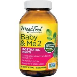 MegaFood Baby & Me 2 Postnatal Multi 120 Tabs