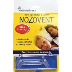 Scandinavian Formulas Nozovent Anti-Snoring Device 2 ct Respiratory Health found on Bargain Bro from Swanson Health for USD $7.88