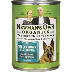 Newman's Own Organics Premium Dog Food Turkey & Brown Rice 12.7 oz Can Dog Food