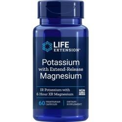 Life Extension Potassium with Extend-Release Magnesium 60 Veg Caps Health Minerals