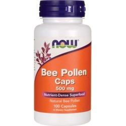 NOW Foods Bee Pollen Caps 500 mg 100 Caps Energy