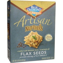 Blue Diamond Artisan Nut-Thins - Flax Seeds 4.25 oz Package