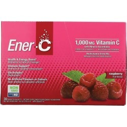 Ener-C Vitamin C Effervescent Powdered Drink Mix - Raspberry 1000 mg 30 Packets Multivitamins