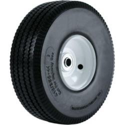Martin Wheel 410/350-4 10 in. Flat Free Hand Truck Wheel, 2-1/4 in. x 5/8 in. Offset Hub