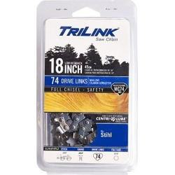 TriLink Saw Chain 18 in. Full Chisel Saw Chain; .325 in. Pitch; .063 in. Gauge; 74 DL