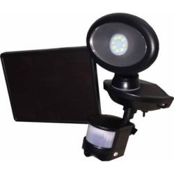 MAXSA Innovations Solar Security Video Camera and Spotlight, Black