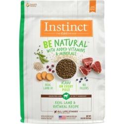 Instinct Be Natural Lamb & Oatmeal Recipe Natural Dry Dog Food, 24 lb.