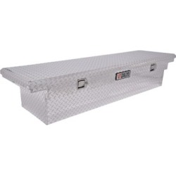 Tractor Supply Full-Size Low-Profile Single Lid Tool Box; Silver