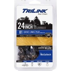 TriLink Saw Chain 24 in. Full Chisel Saw Chain; 3/8 in. Pitch; .050 in. Gauge; 81 DL
