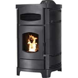 Ashley Pellet Stove with Polished Black Curved Sides; 2;200 sq. ft.