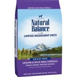 Natural Balance L.I.D. Limited Ingredient Diets Legume & Duck Meal Formula Dry Dog Food, 24 lb.