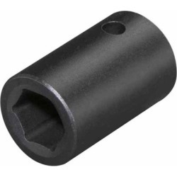 TEKTON 1/2 in. Drive Shallow Impact Socket, 6-Point, 14mm