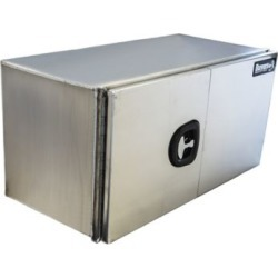 Buyers Products 24 in. x 24 in. x 72 in. XD Smooth Aluminum Underbody Truck Box with Barn Door