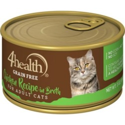 4health Grain-Free Chicken Recipe in Broth for Cats; 3 oz. Can found on Bargain Bro India from Tractor Supply for $0.54