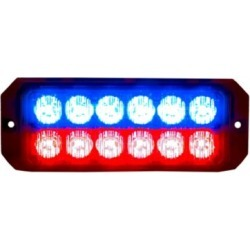 Buyers Products 5.19 in. Blue/Red Rectangular LED Strobe Light