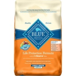 Blue Buffalo BLUE Life Protection Formula Adult Large Breed Chicken and Brown Rice Dry Dog Food, 15 lb. Bag