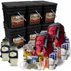 Wise Company 6 Month Emergency Food Supply Package with 2 Bonus 5 Day Survival Backpacks, 1,440 Servings