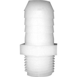 Green Leaf Inc. Nylon Straight Adapter, 1/8 in. MPT x 3/8 in. Barb, A 1838 found on Bargain Bro Philippines from Tractor Supply for $1.59