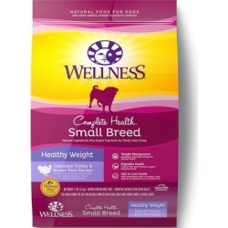 Wellness Complete Health Natural Small Breed Healthy Weight Dry Dog Food, 12 lb. Bag