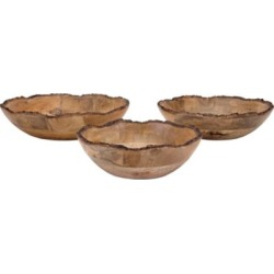 Damari Wood Bowls, Set of 3