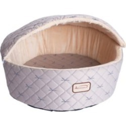 Armarkat Cat Bed, M, Pale Silver and Beige