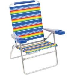 RIO Beach 4 Position 15 in. Tall Beach Chair, Stripe, SC615-1909-1