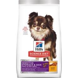Hill's Science Diet Adult Small & Mini Sensitive Stomach & Skin Chicken Recipe Dry Dog Food, 4 lb.