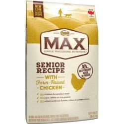 Nutro Max Natural Adult Dry Dog Food, Chicken Flavor, Senior, 25 lb. Bag