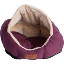 Armarkat Cat Bed, Small Pet Bed, Burgundy/Ivory, C08HJH/MH