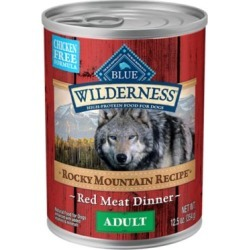 Blue Buffalo Wilderness Rocky Mountain Recipe Red Meat Dinner Adult Grain-Free Canned Dog Food; 12.5 oz.