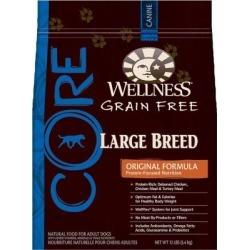 Wellness CORE Grain-Free Large Breed Formula Dog Food; 12 lb. Bag