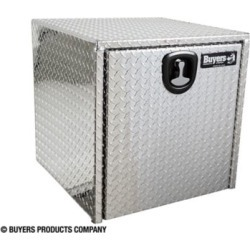 Buyers Products 24 in. x 24 in. x 24 in. Diamond Tread Aluminum Underbody Truck Box with 3-Pt. Latch