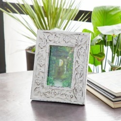 Harper & Willow 9 in. x 11 in. Rectangular Carved Wood Antique Floral Picture Frame, Whitewash Finish, 54636 found on Bargain Bro Philippines from Tractor Supply for $55.99