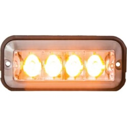 Buyers Products 4.875 in. Amber Rectangular Strobe Light with 4 LED