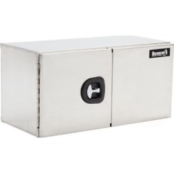Buyers Products 24 in. x 24 in. x 36 in. Smooth Aluminum Underbody Truck Box with Barn Door