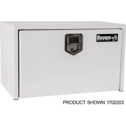 Buyers Products 18 in. x 18 in. x 48 in. White Steel Underbody Truck Box with 2 Paddle Latches