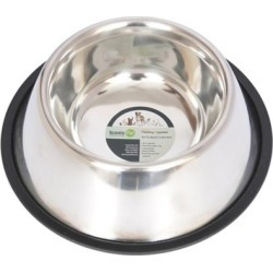 Iconic Pet Stainless Steel Non-Skid Pet Bowl for Dog or Cat; 16 oz./2 cup