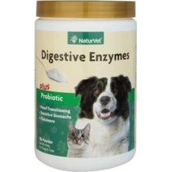 NaturVet Digestive Enzymes Plus Probiotic Powder Jar, 79903662