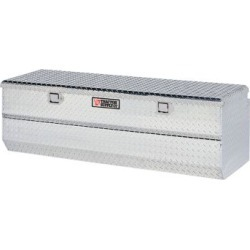 Tractor Supply Full-Size Single Lid Tread Aluminum Utility Chest Tool Box; Silver; 60 in. L