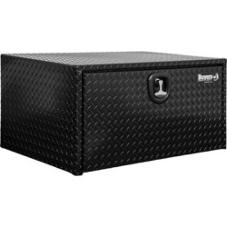 Buyers Products 14 in. x 12 in. x 24 in. Black Diamond Tread Aluminum Underbody Truck Box