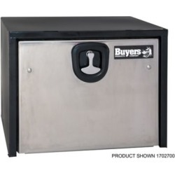 Buyers Products 14 in. x 16 in. x 24 in. Black Steel Truck Box with Stainless Steel Door