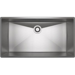 ROHL Forze Single Bowl Stainless Steel Kitchen Or Bar/Food Prep Sink, Brushed Stainless Steel, RHL-RSS3318SB